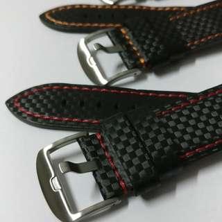 Carbon Fibers Design Watch Straps 24mm