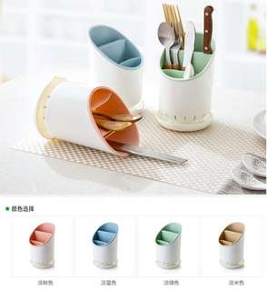 SK59 餐具分層收納瀝水筒 廚房用品餐具分格收納筒 瀝水筷子筒