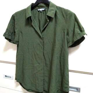 💟Uniqlo 墨綠色襯衫