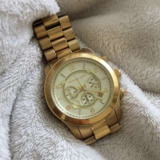 Oversized Michael Kors Gold Watch