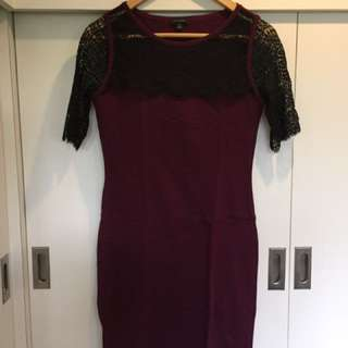 Ann Taylor Maroon Dress
