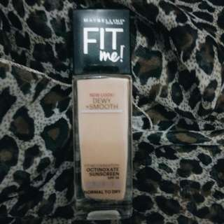 [Preloved] Maybelline Fit me Dewy Smooth Foundation