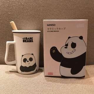 WE BARE BEARS X MINISO Panda Ceramic Cup