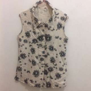 Flower Blouse Cream