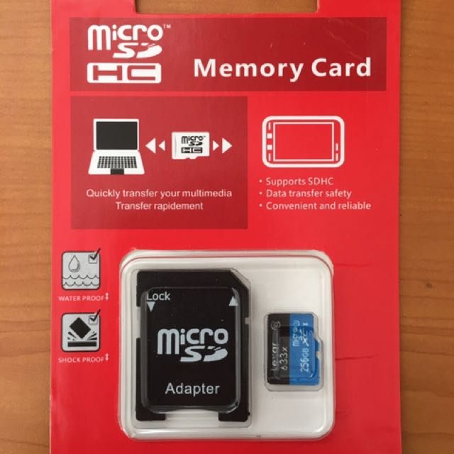 256 Lexar Micro SD TF Memory Card. Class10