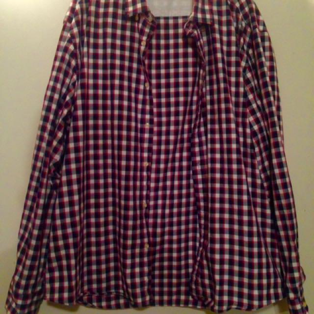 3XL Checkered Dress Shirt