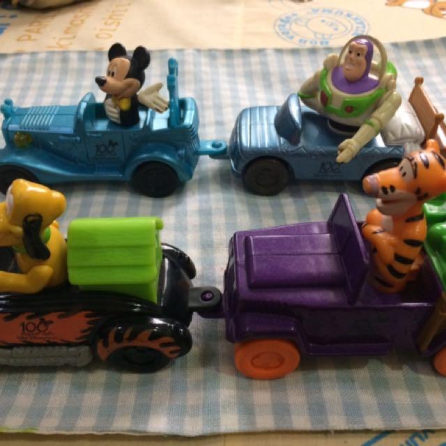麥當勞玩具 迪士尼100週年 米奇車 巴斯光年 跳跳虎 布魯托 收藏玩具