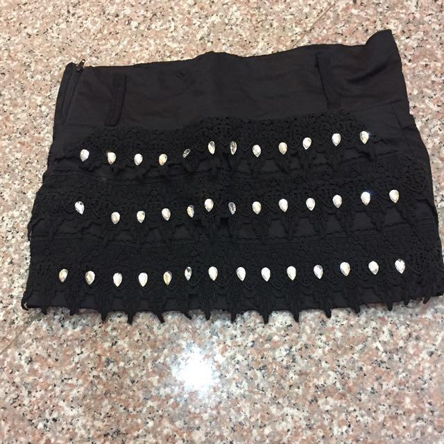 超短黑窄裙