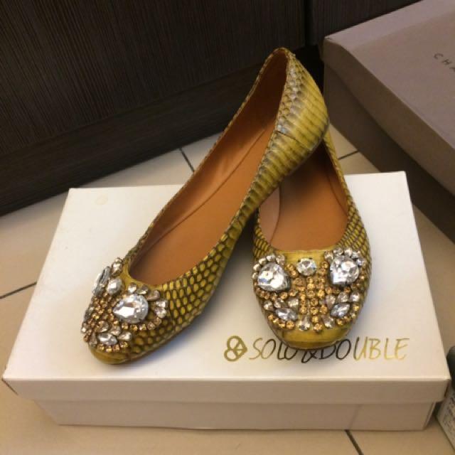奢華手工鑲鑽平底鞋 (任選2雙再9折)