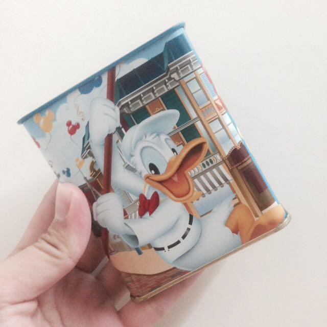 🎈三件免運 迪士尼鐵盒 唐老鴨