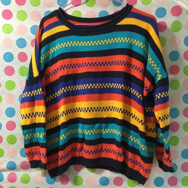 【二手】毛衣 上衣 復古 女 #一百元上衣