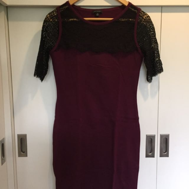 Ann Taylor Maroon Dress