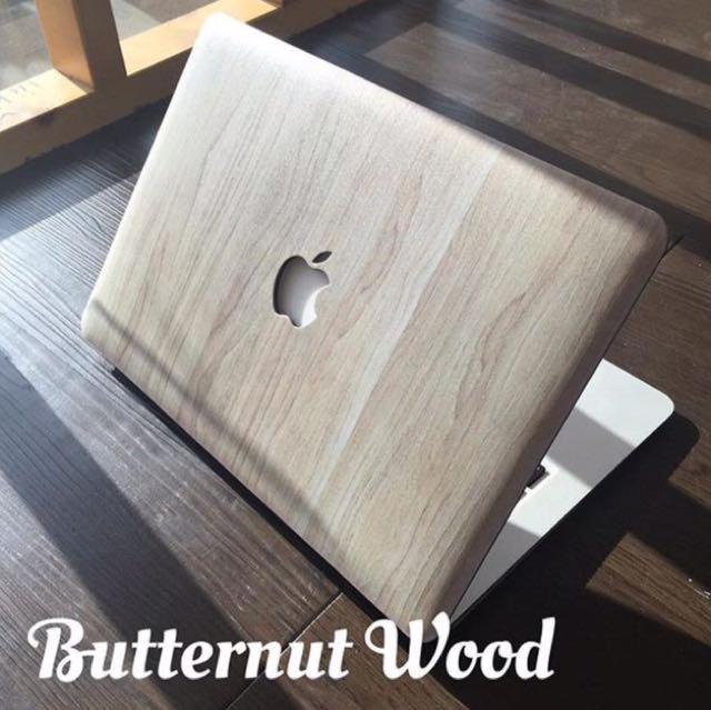 Anti scratch wood designs macbook cases