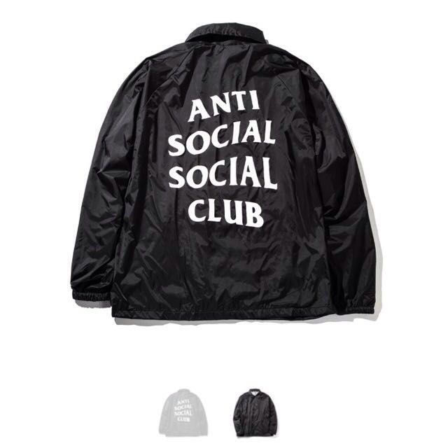 AntiSocialSocialClub Never Gonna Give You Up Black Jacket