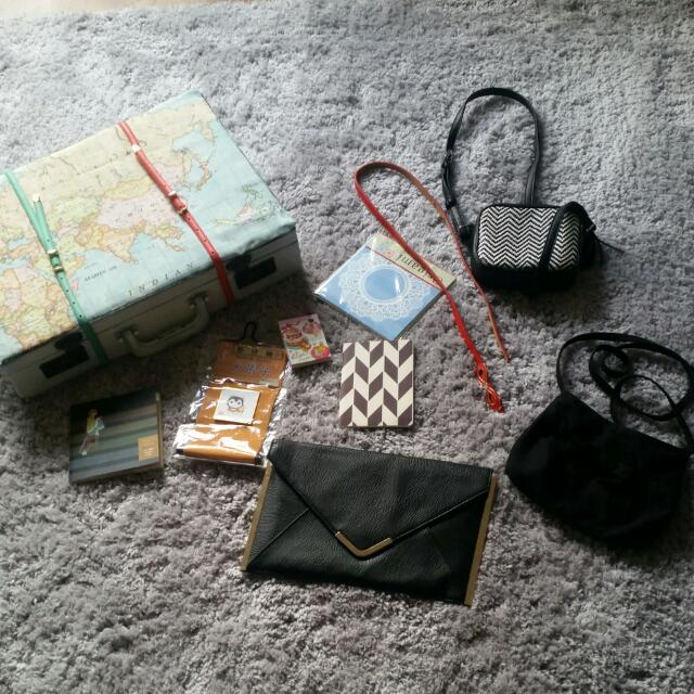 Assorted Bags/ Notebooks
