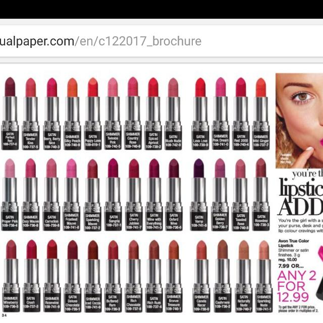 Avon True Color Lipsticks