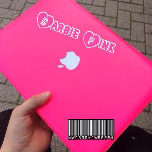 Barbie Pink Color Macbook Case
