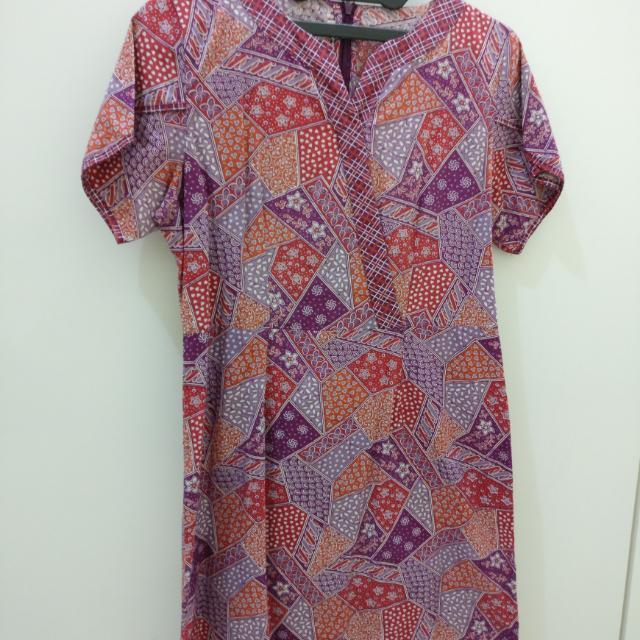 Batik Keris Purple Dress