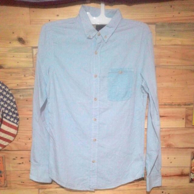 BERSHKA chambray Shirt
