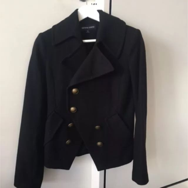 Bettina Liano Military Coat Jacket