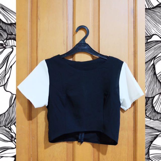Black & White Crop Top