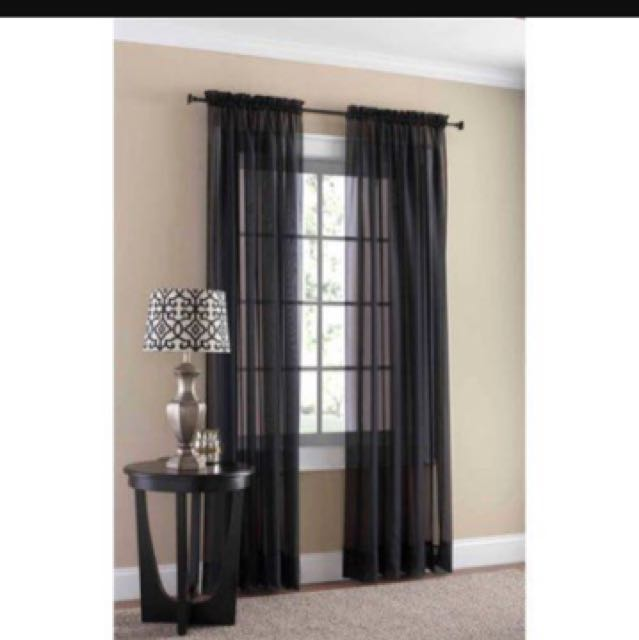 Black Sheer Curtains