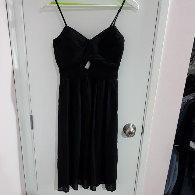Black Sweatheart Dress
