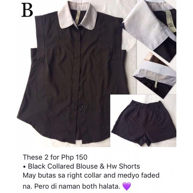 Black Top & Shorts