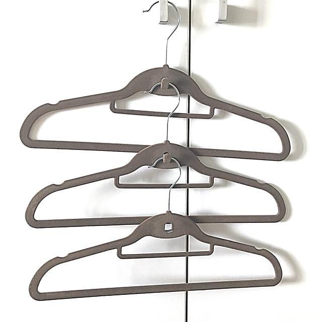 Brandnew Brown Suede Hangers