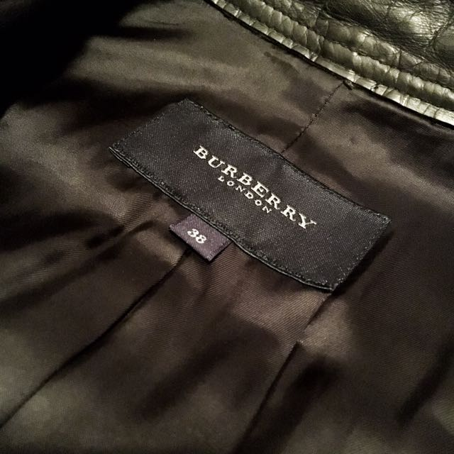 Burberry 皮衣 羔羊皮 黑 38號