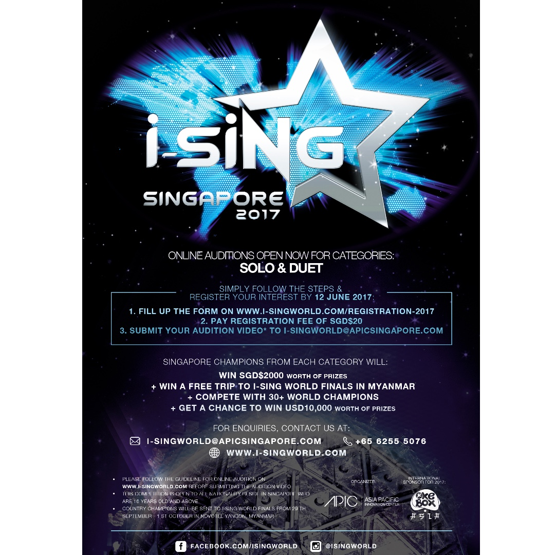 Calling out all aspiring singers in singapore i sing world photo photo photo stopboris Gallery