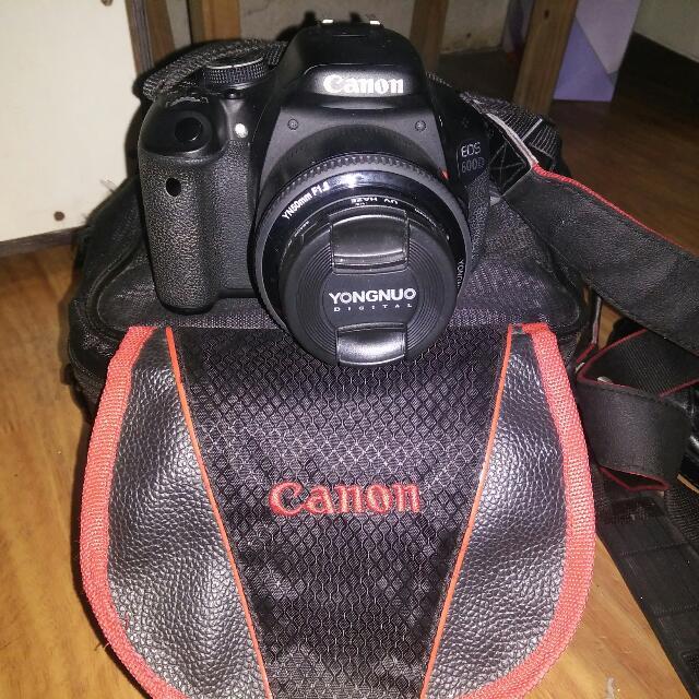 Canon 600d + Lensa Youngnou 50mm