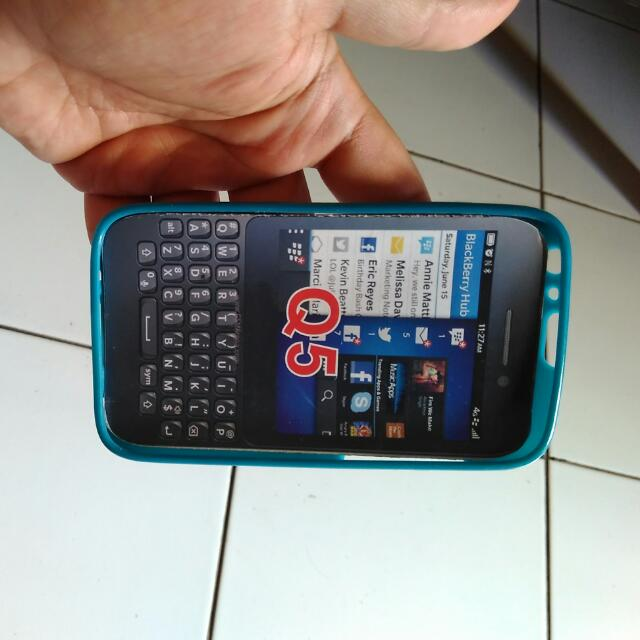 Case Blackberry Q5 - Biru hijau