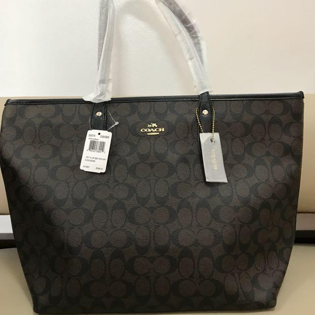 Clearance Sale!! Coach Top Zip Tote Bag 4b0c4439bc34c