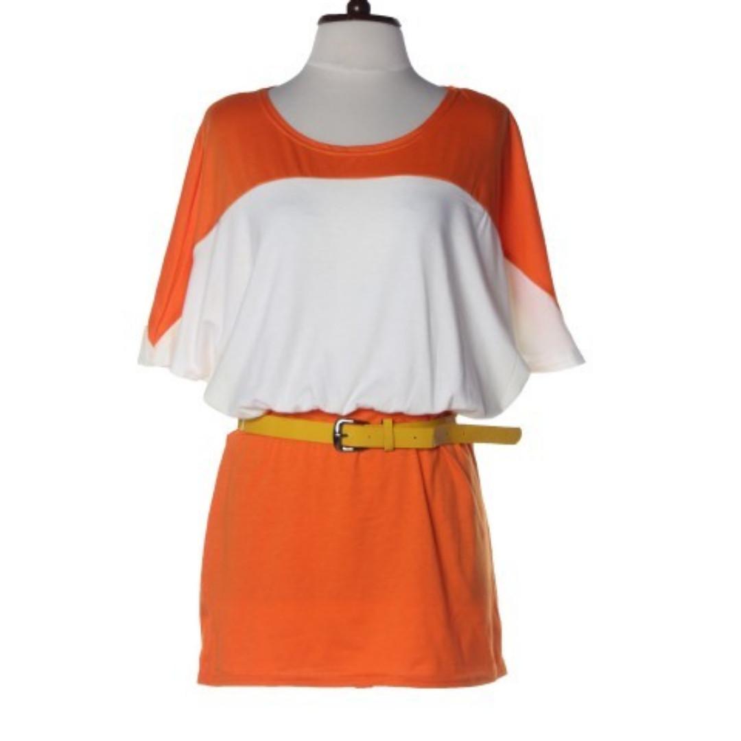 Color Block Dress W/ Belt