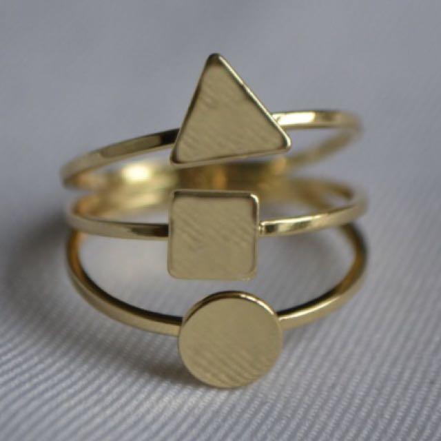 Costume Jewellery Geometric Ring - Never Worn!!