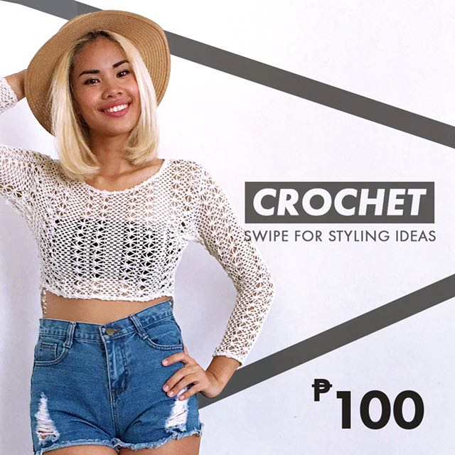 Crocheted Cropped Top
