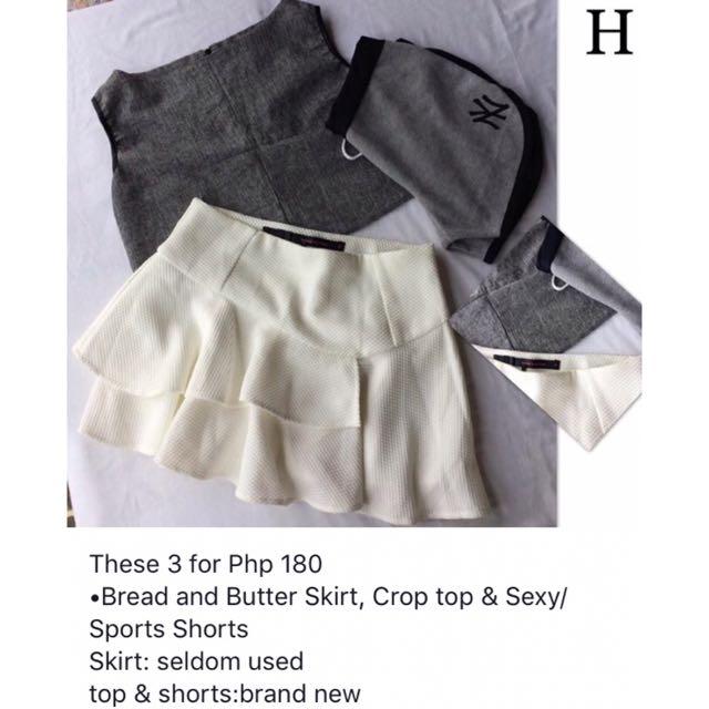 Crop & Halter Top & Bread&Butter Skirt