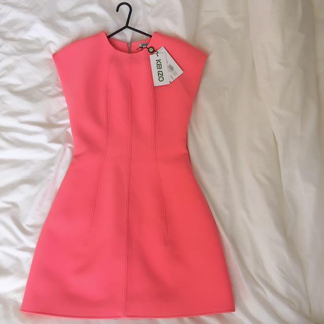 Designer Brand Kenzo Paris Dress Pink Fit And Flare Stylish