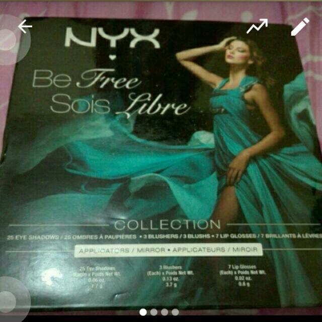 [Diskon 20%] Nyx Make Up Palette Be Free Sois Libre