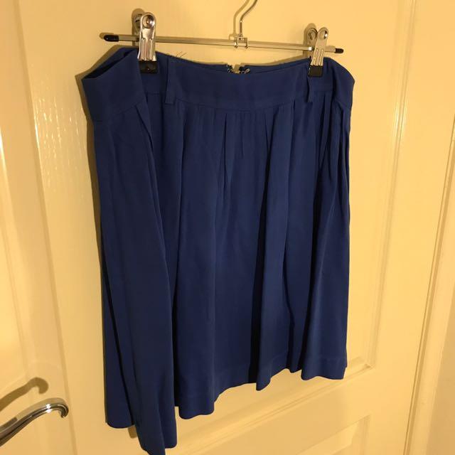 Dotti Blue Pleated Skirt