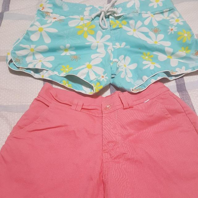 Floral And Pink Summer Shorts