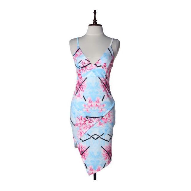 Floral Side Overlap Dress