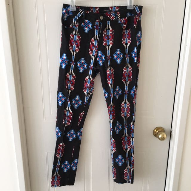 Forever 21 Patterned Pants