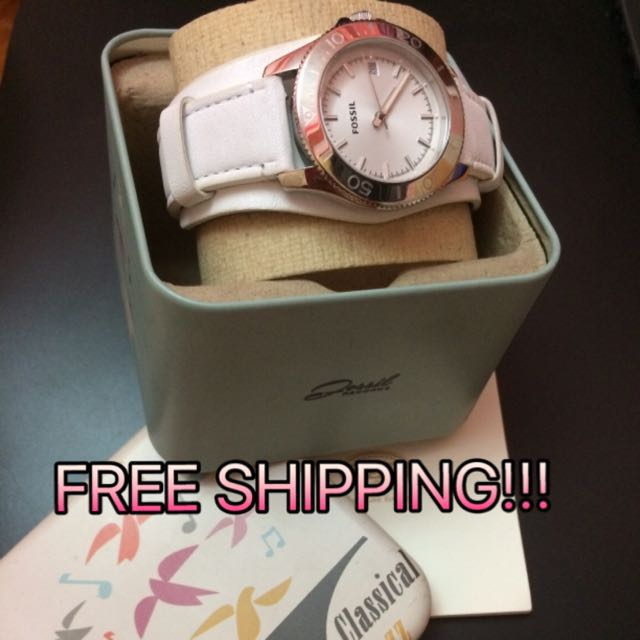 Fossil Women's Retro AM4458 Leather Analog Quartz Watch With Dial