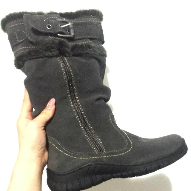 FUR-LINED GERMAIN GEORGE WINTER BOOTS
