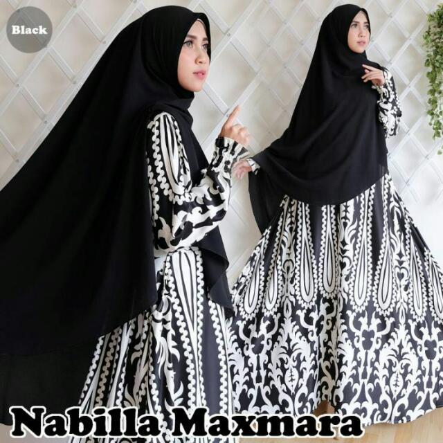 Madeena Syari Mocca Bulan Ini Bargains Harga Indonesia Source · Gamis Syari Nabila NC2517 Real Pict