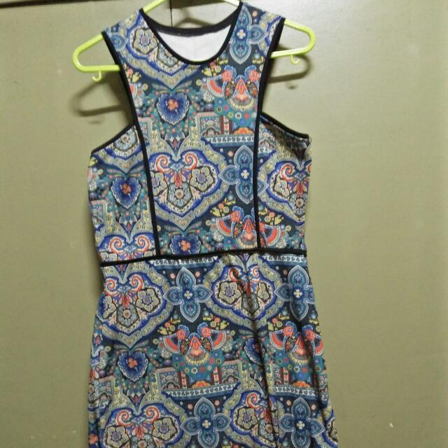 halter fitted dress