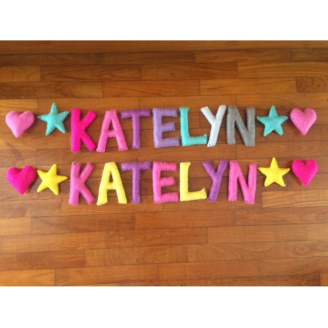Handmade Customized Felt Name Garland Name Banner Name Bunting Design Craft Handmade Craft On Carousell