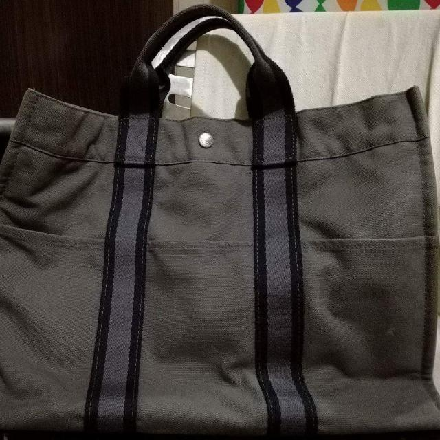 Hermes Canvass Tote Bag
